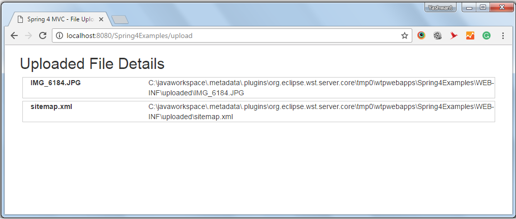 spring 4 mvc file upload example
