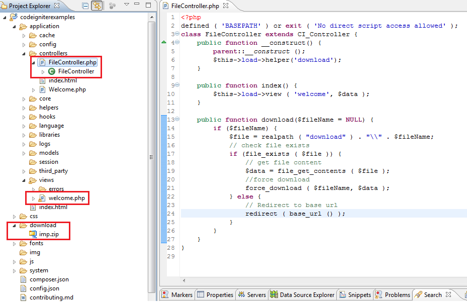download example html file