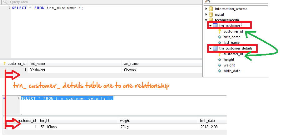 Hibernate One to One Table Relationship