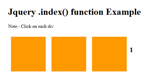 jquery .index() function example