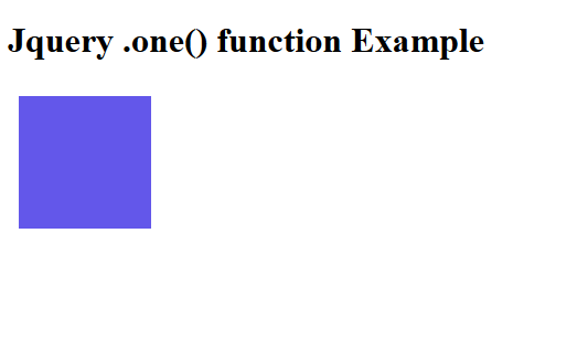 jquery .one() function example