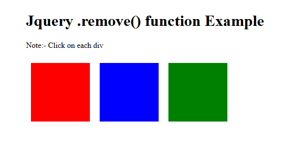 jquery .remove() function example