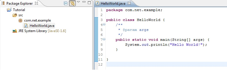 Filename: Hello World Java Project